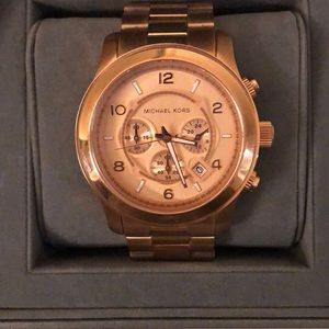 Michael Kors Watch- Rose Gold, Oversized